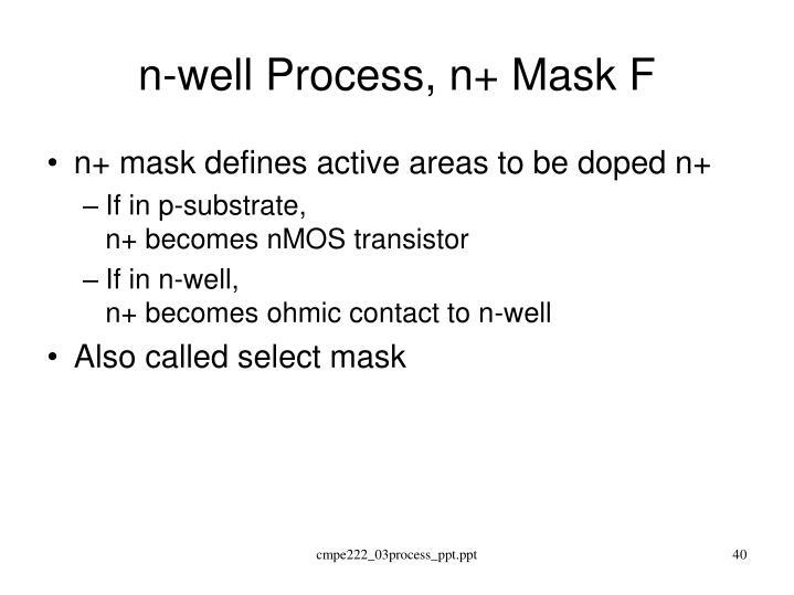 n-well Process, n+ Mask F