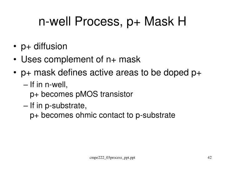 n-well Process, p+ Mask H