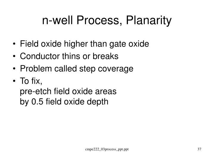 n-well Process, Planarity