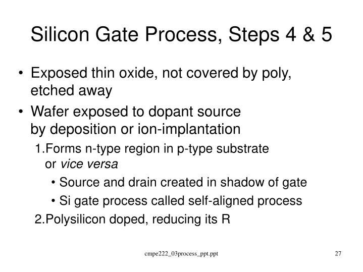 Silicon Gate Process, Steps 4 & 5