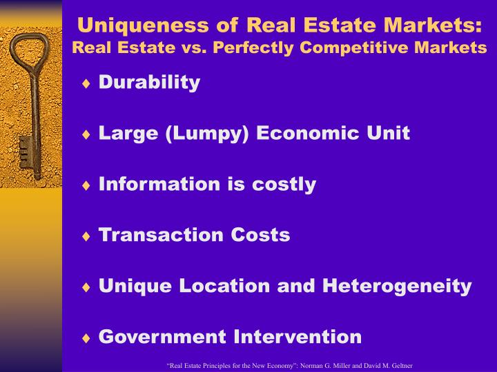 Uniqueness of Real Estate Markets:
