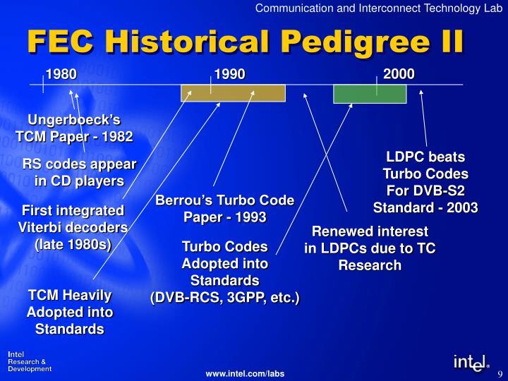 FEC Historical Pedigree II