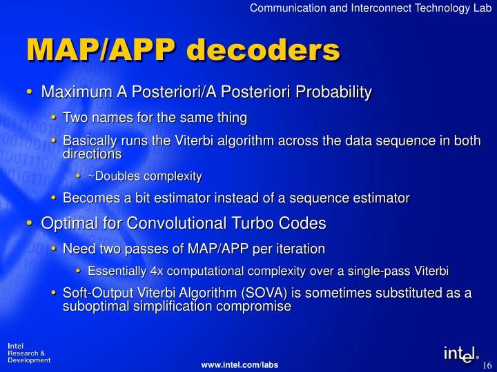 MAP/APP decoders