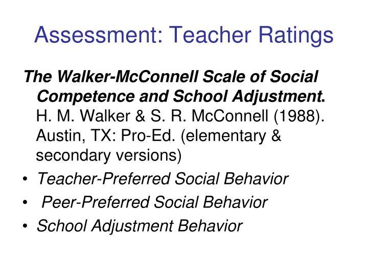 Assessment: Teacher Ratings