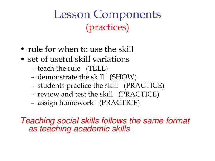 Lesson Components