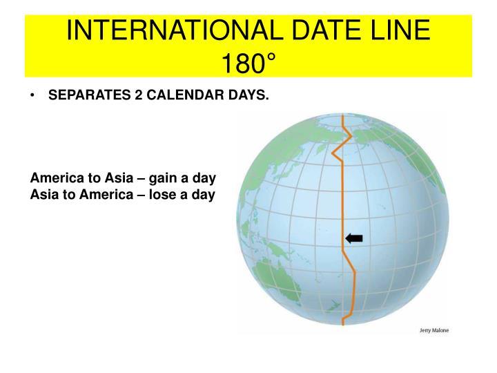 INTERNATIONAL DATE LINE