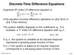 discrete time difference equations