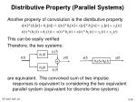 distributive property parallel systems