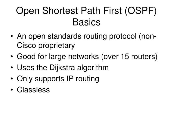 Open Shortest Path First (OSPF) Basics