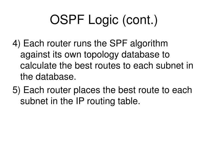 OSPF Logic (cont.)