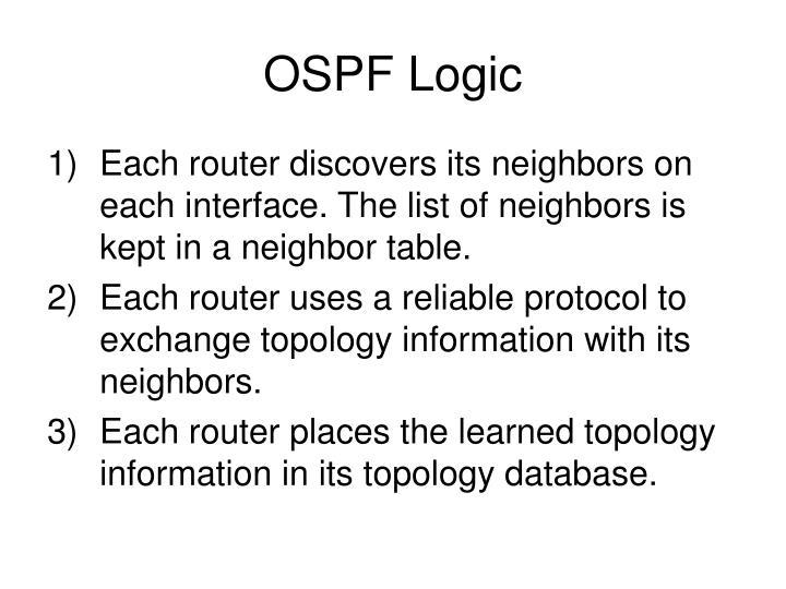 OSPF Logic