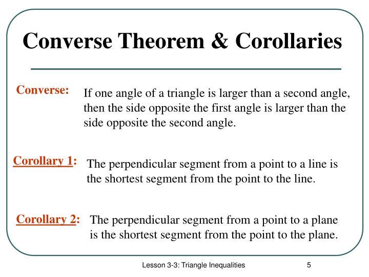 Converse Theorem & Corollaries