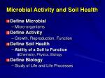 microbial activity and soil health
