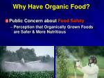 why have organic food