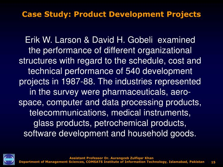 Case Study: Product Development Projects