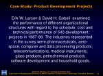 case study product development projects
