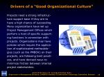 drivers of a good organizational culture1