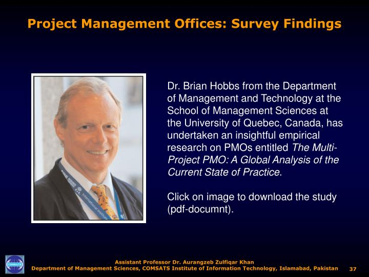 Project Management Offices: Survey Findings