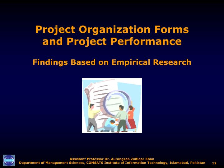 Project Organization Forms