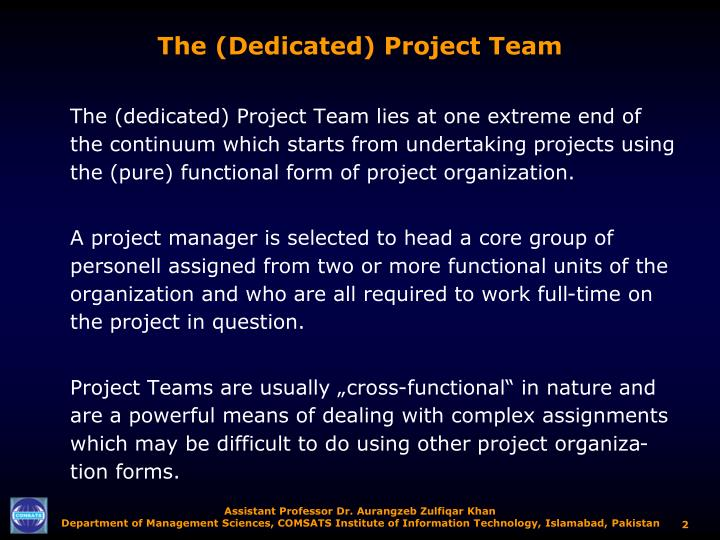 The (Dedicated) Project Team