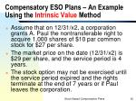 compensatory eso plans an example using the intrinsic value method