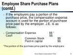 employee share purchase plans contd