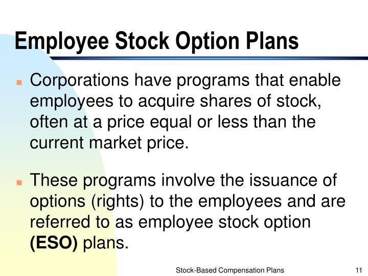 Employee Stock Option Plans