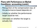 plans with performance on market conditions accounting contd