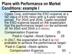 plans with performance on market conditions example i