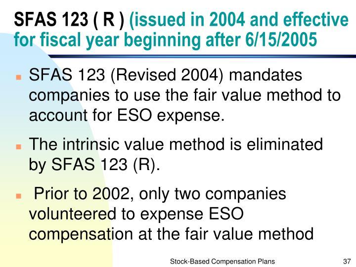 SFAS 123 ( R )