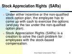 stock appreciation rights sars