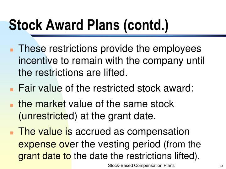 Stock Award Plans (contd.)
