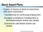 stock award plans