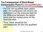 tax consequences of stock based compensation plans the non qualified plan