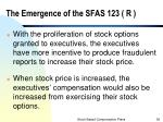 the emergence of the sfas 123 r1
