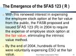 the emergence of the sfas 123 r3