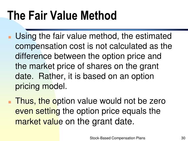 The Fair Value Method