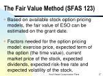 the fair value method sfas 123