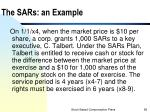 the sars an example
