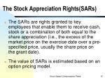 the stock appreciation rights sars