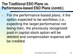 the traditional eso plans vs performance based eso plans contd1