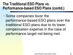 the traditional eso plans vs performance based eso plans contd2