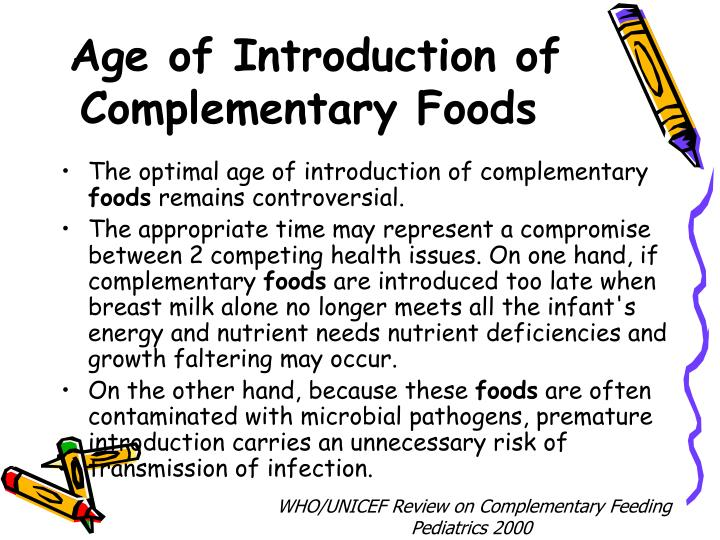 Age of Introduction of Complementary Foods
