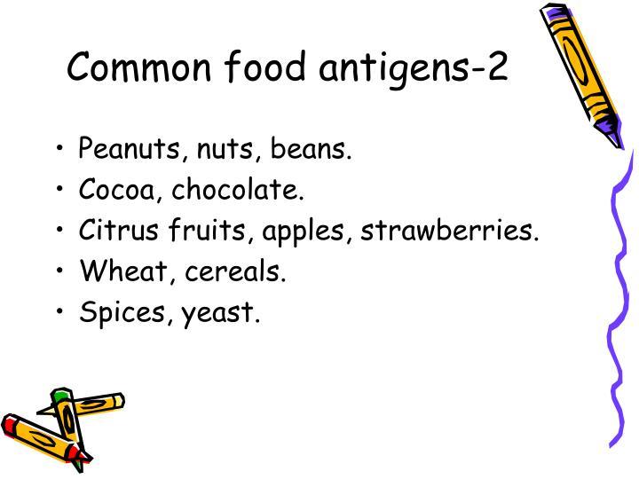 Common food antigens-2
