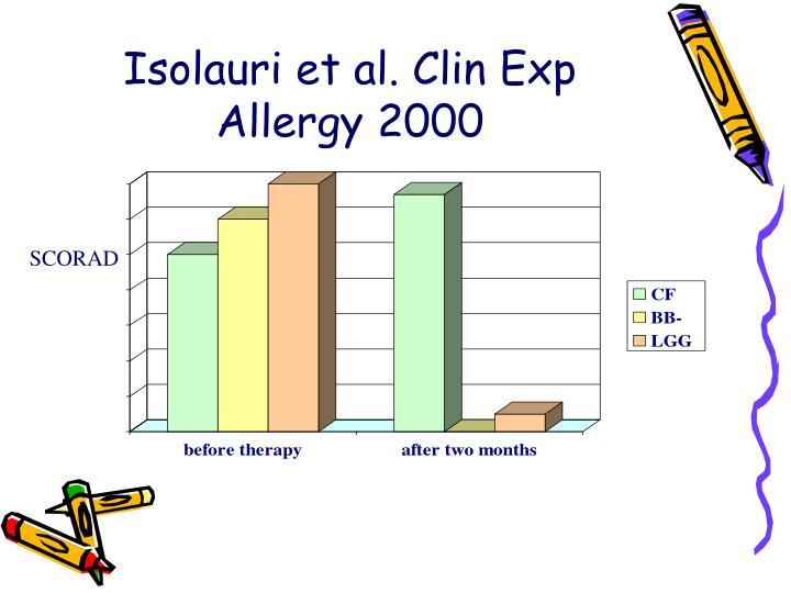 Isolauri et al. Clin Exp Allergy 2000