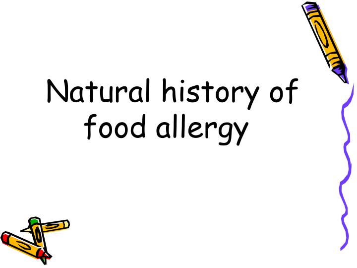 Natural history of food allergy