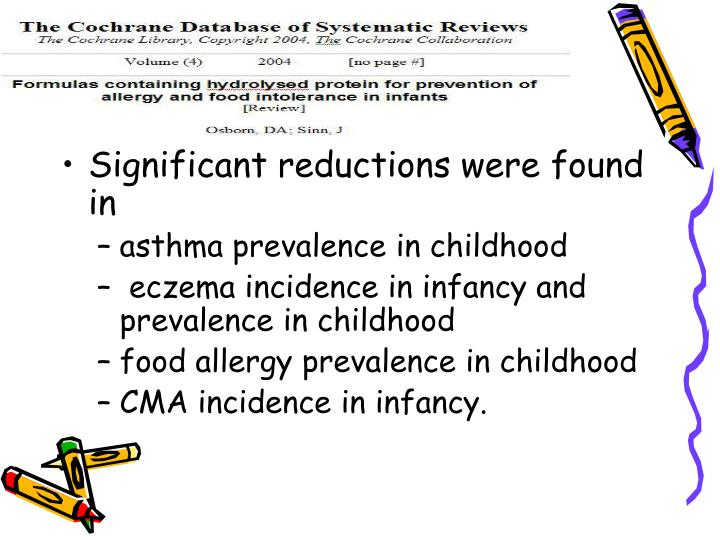 Significant reductions were found in