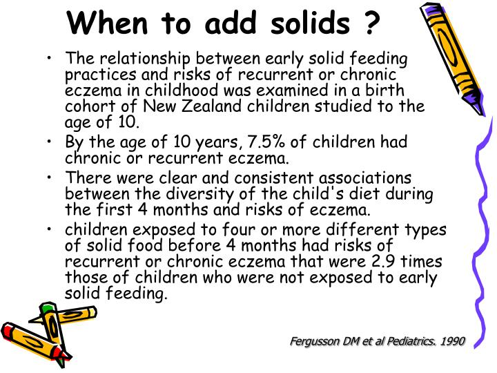When to add solids ?