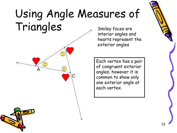 Using Angle Measures of Triangles