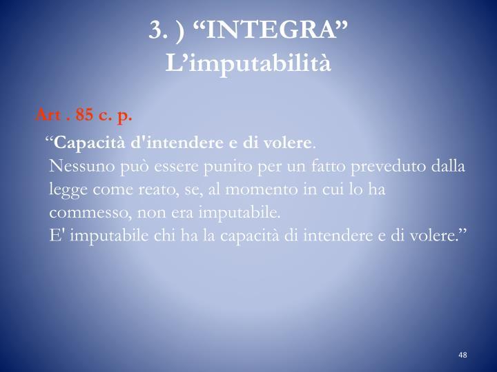 "3. ) ""INTEGRA"""